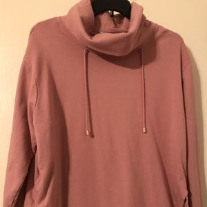 Ava and Viv Rose Gold Cowl Neck Tunic